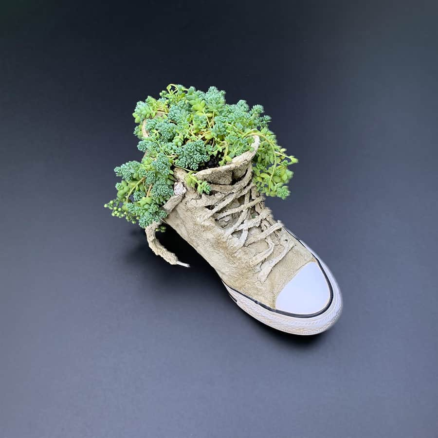Cement Sneaker Planter