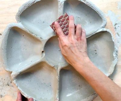 sanding cement