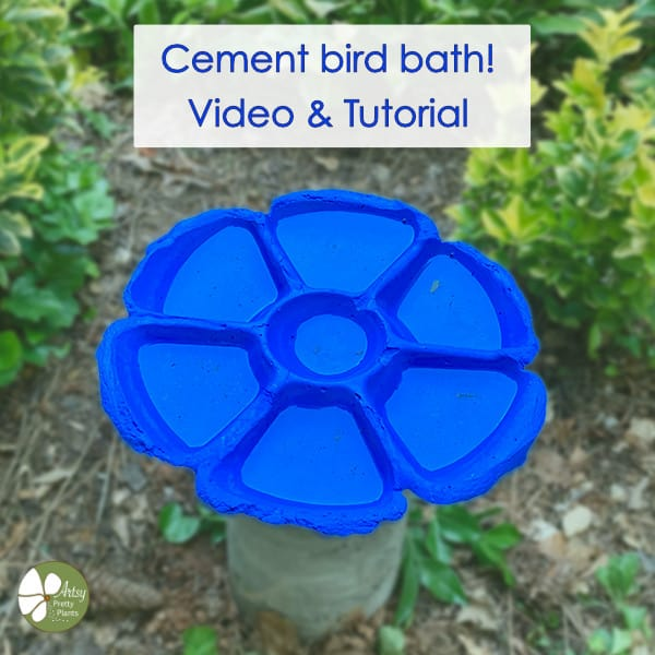 Homemade cement bird bath video tutorial.