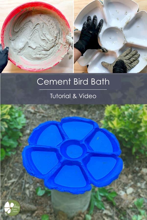Homemade cement bird bath video tutorial