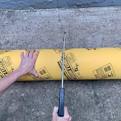 cutting cardboard tube