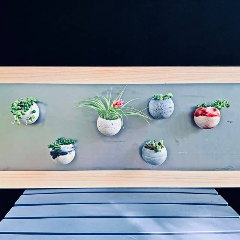 DIY magnetic cement planters