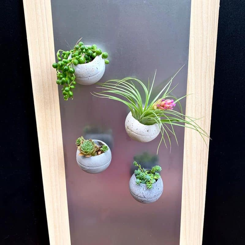 magnetic cement planters