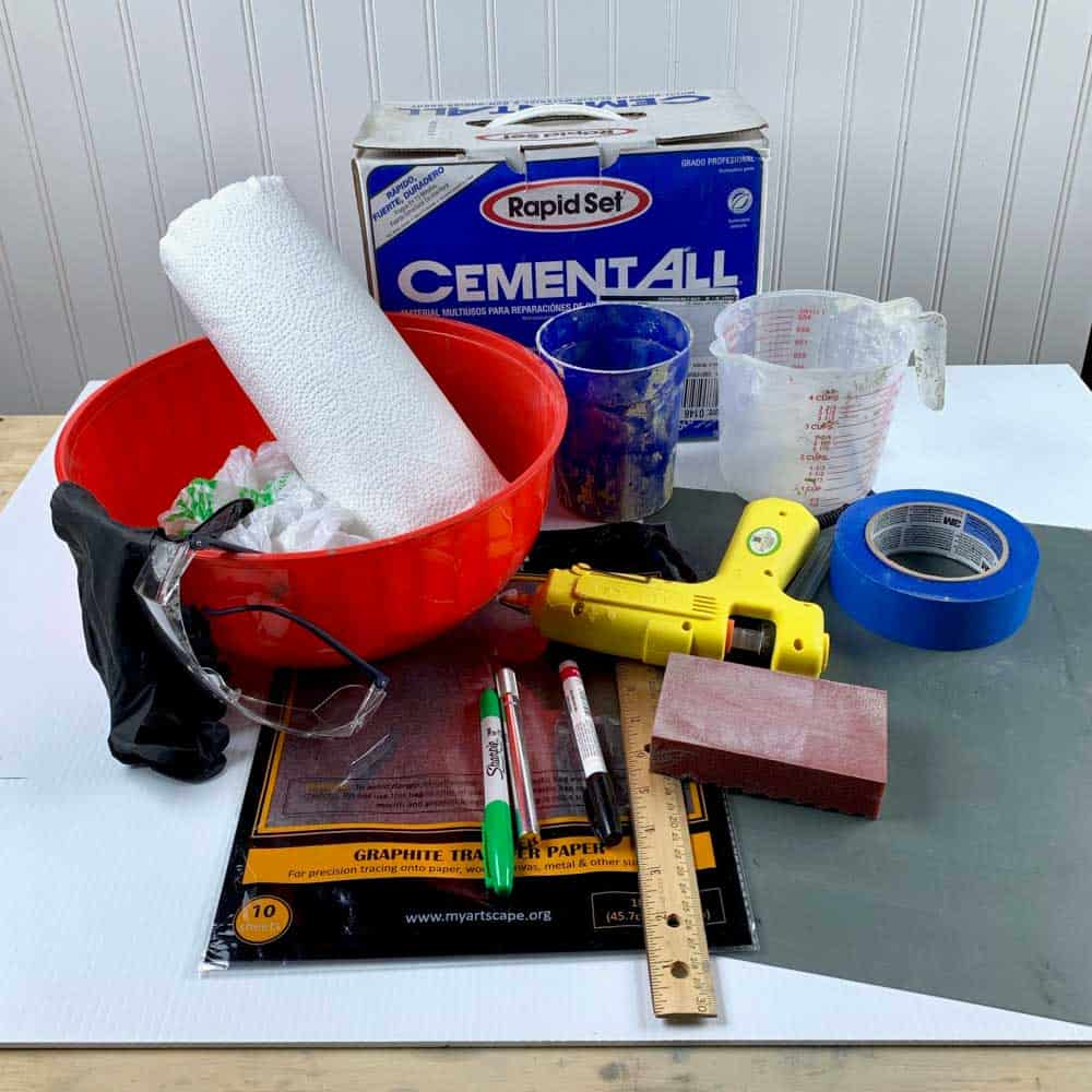 materials DIY cement grinch