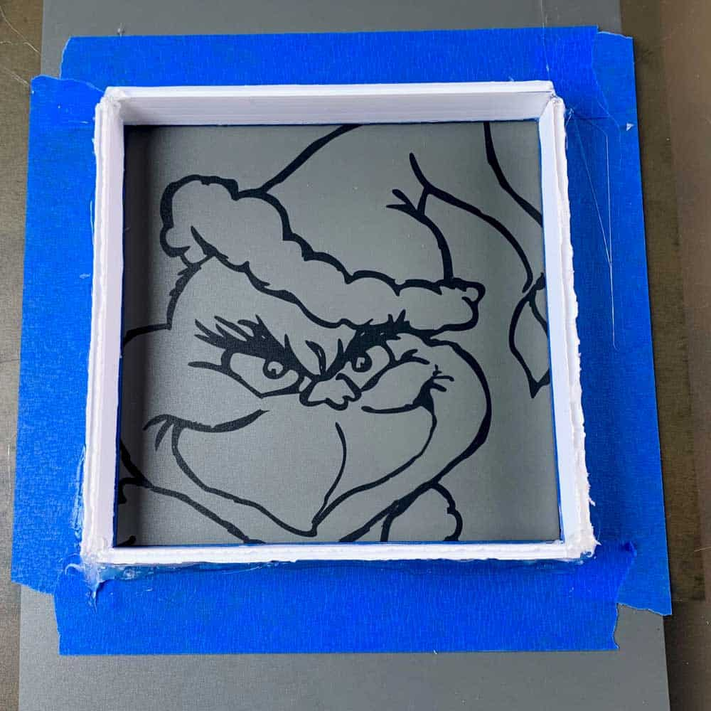 diy cement grinch decor frame