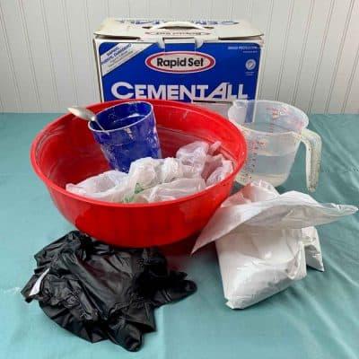 diy cement ornament materials