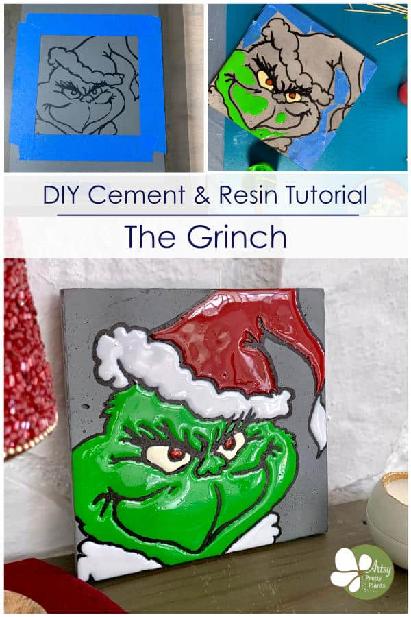 The grinch diy cement