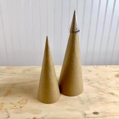 cone materials for DIY cement cone vase
