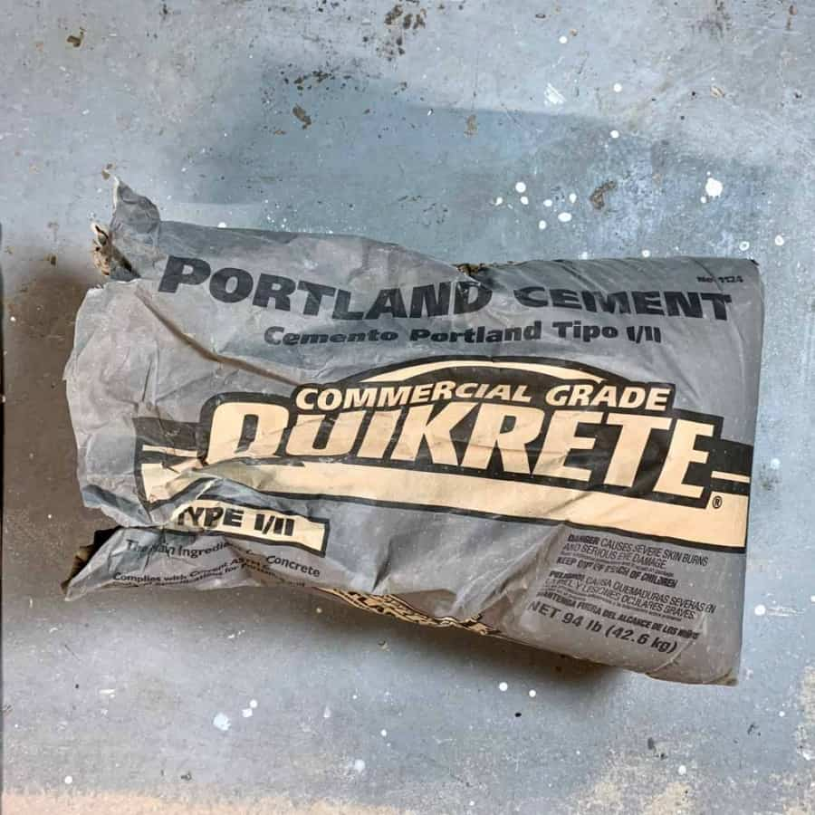 Bag of portland cement for making concrete crafts