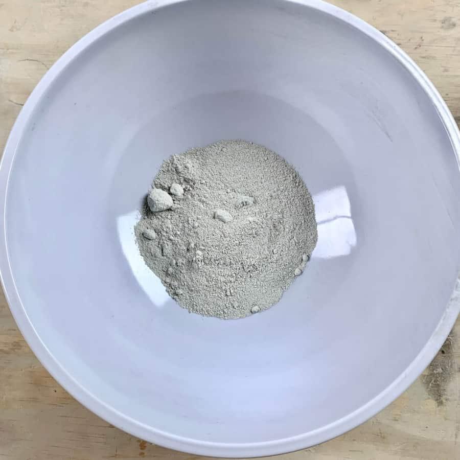 dry white glass block mortar