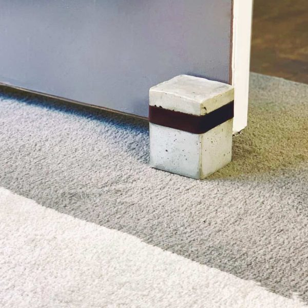 Make A Cement Door Stopper With A Leather Inlay
