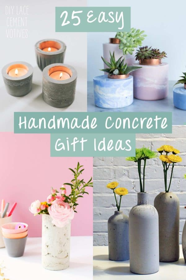 Easy Handmade Concrete Gift Ideas
