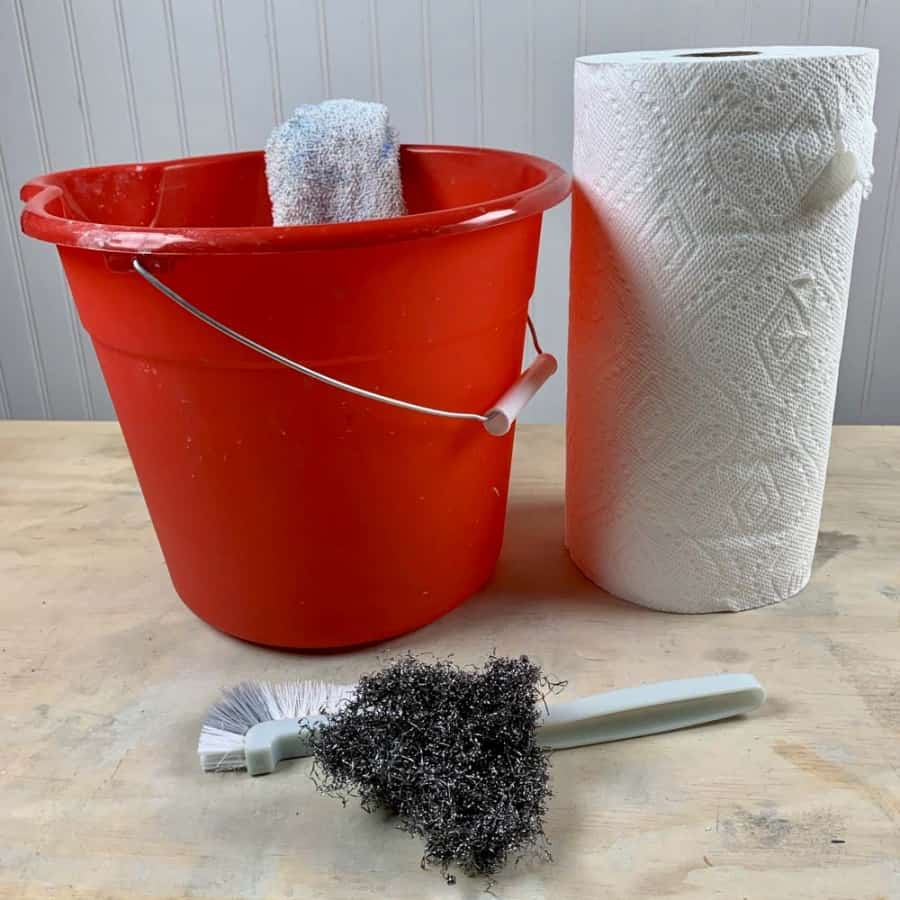 cleaning tools for making crafts with concrete
