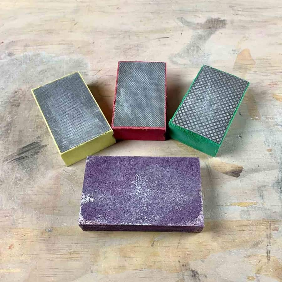diamond sanding sponges for sanding techniques for concrete crafts
