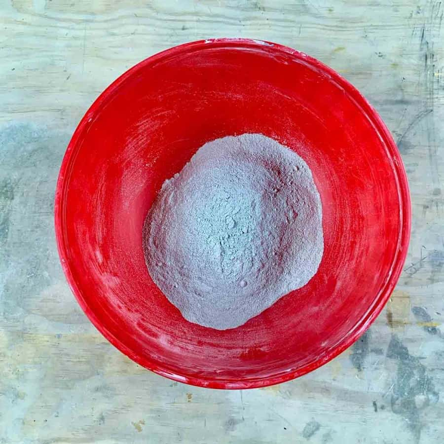 white cement in bowl