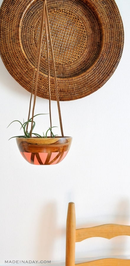 21 Easy DIY Planter Projects wooden bowl