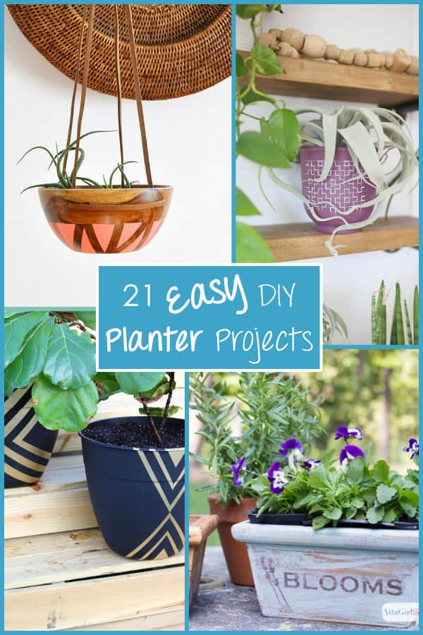 21 Easy DIY Planter Projects 4 different types of planters
