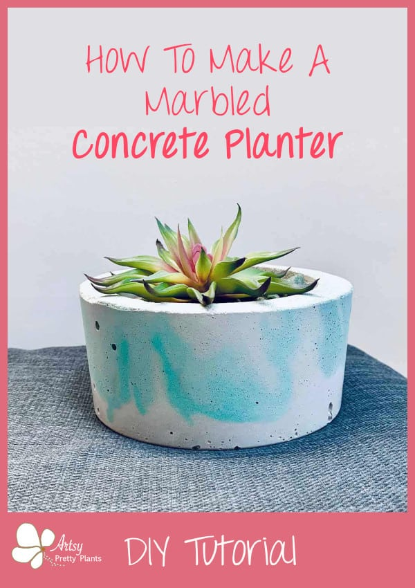 swirly looking concrete planter