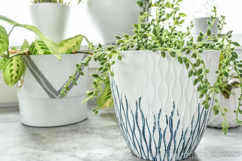 Easy DIY Planters painted modern planters