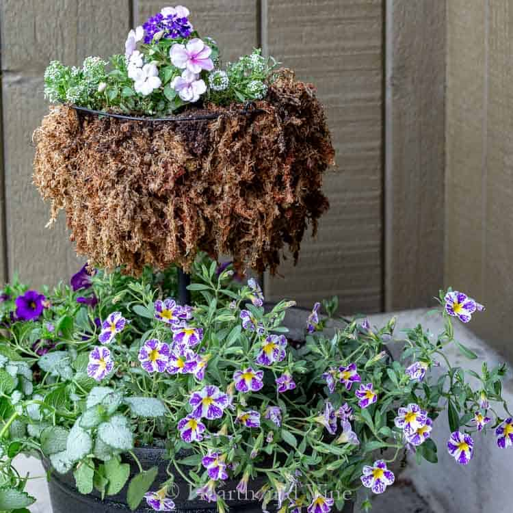 21 Easy DIY Planter Projects using hanging basket