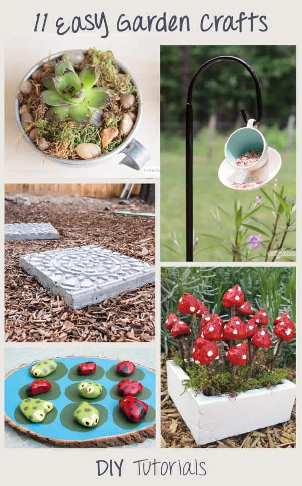 11 Easy diy garden crafts