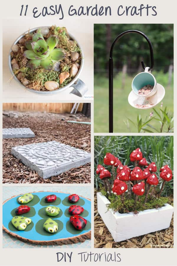 11 Easy diy garden crafts