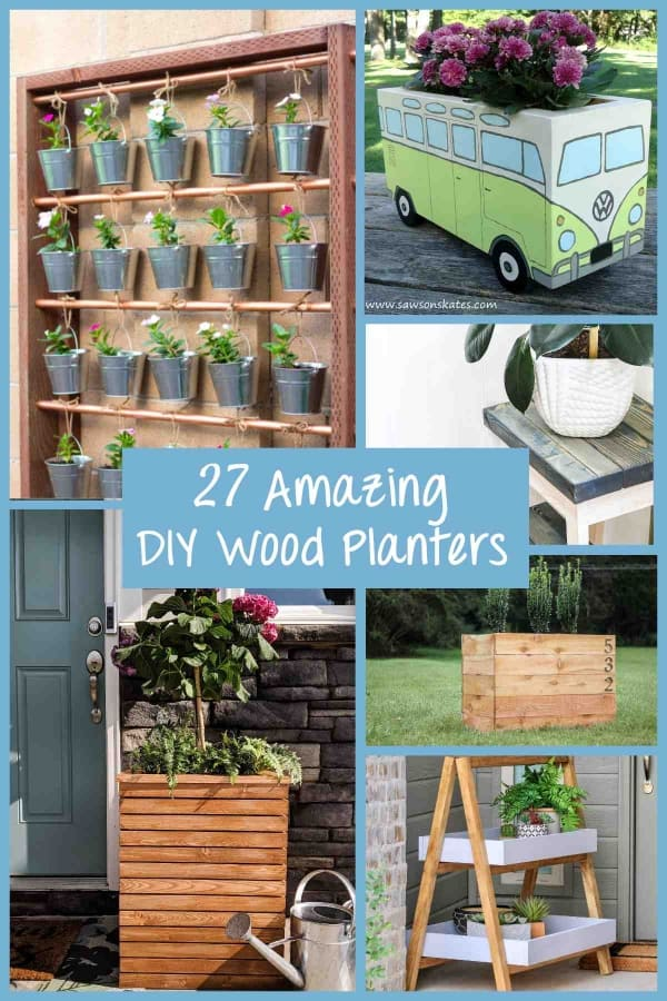 27 Amazing DIY Wood Planters