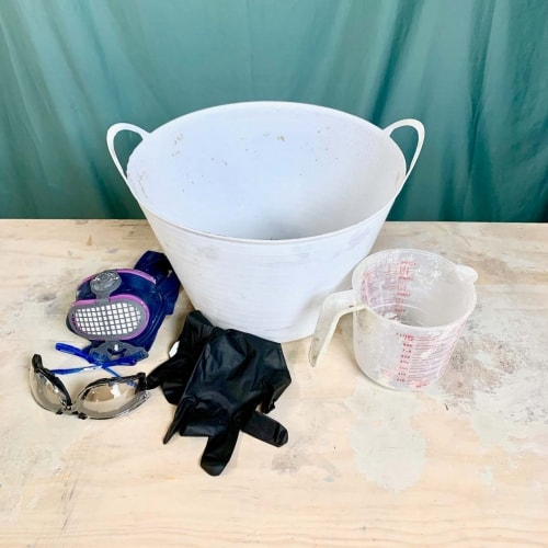 materials for Cement Fabric Flower Pot With Balloons