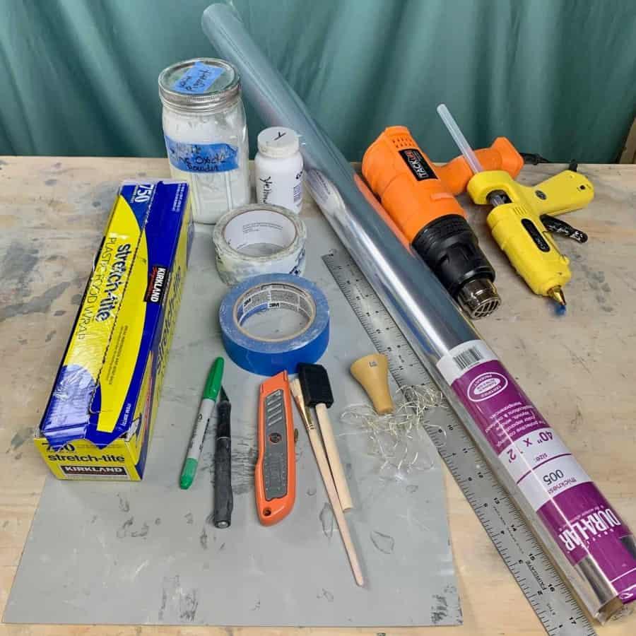 materials for DIY wine bottle solar lights