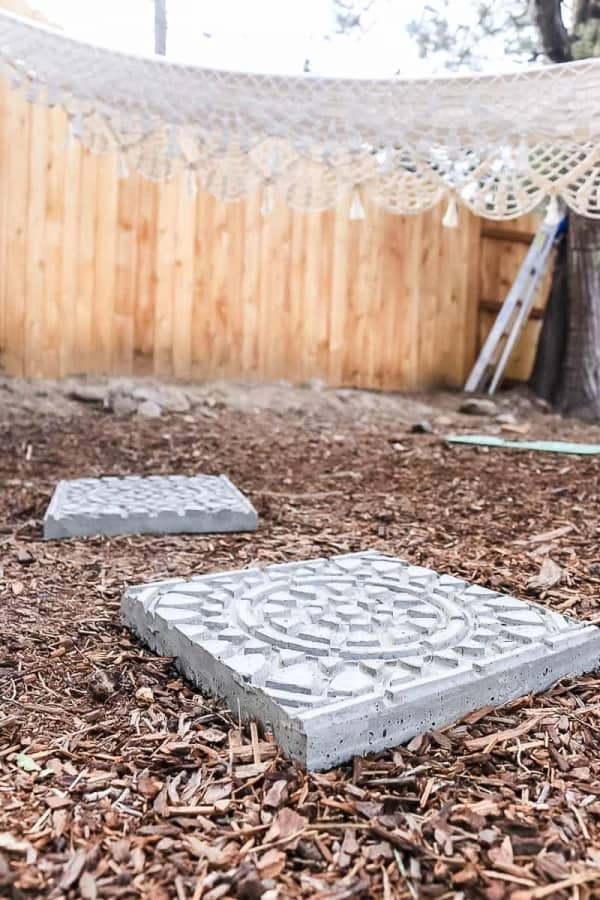 garden art of stamped stamping stone