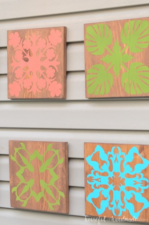 easy patio crafts - wood wall art