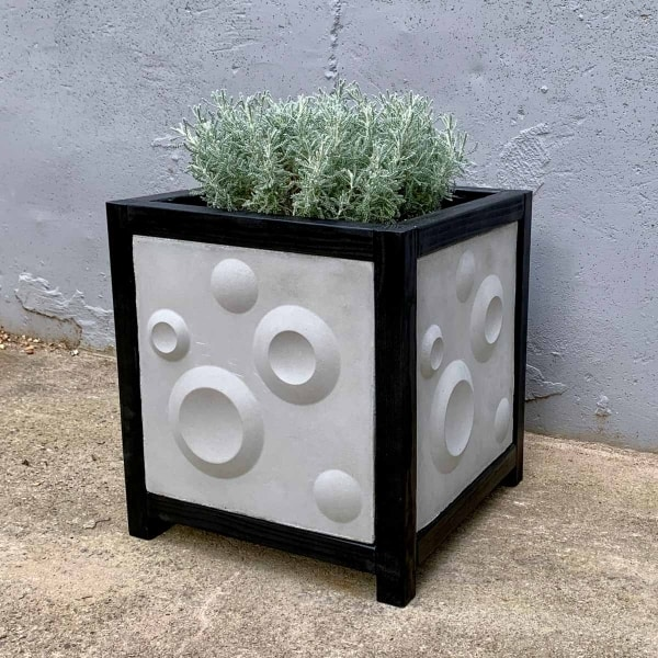 3D Cement Tile Planter Box