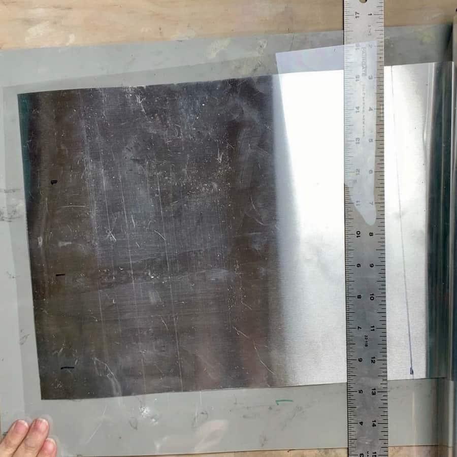 cut acetate oversized
