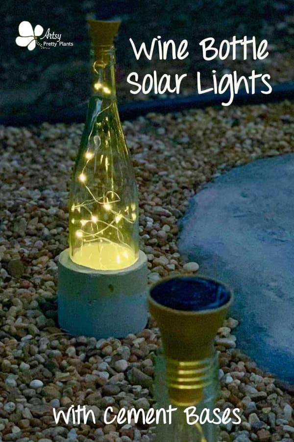 Wine Bottle Lights On Stone Path