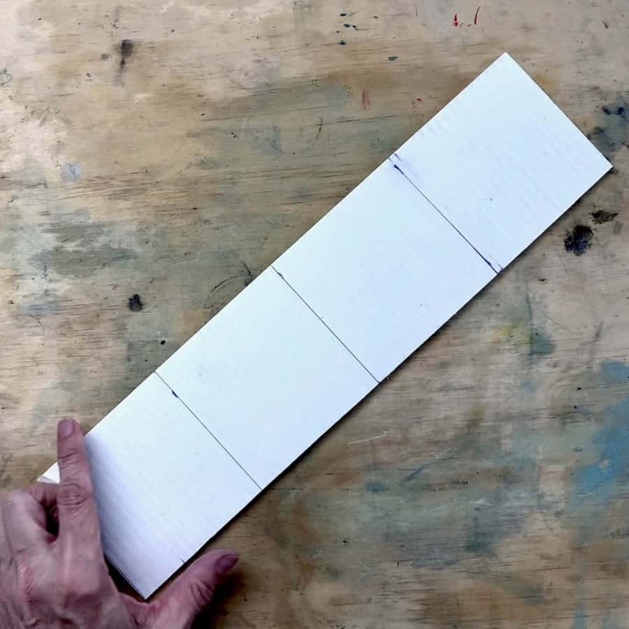 corrugated plastic board cut to size for mold to fit planter glass