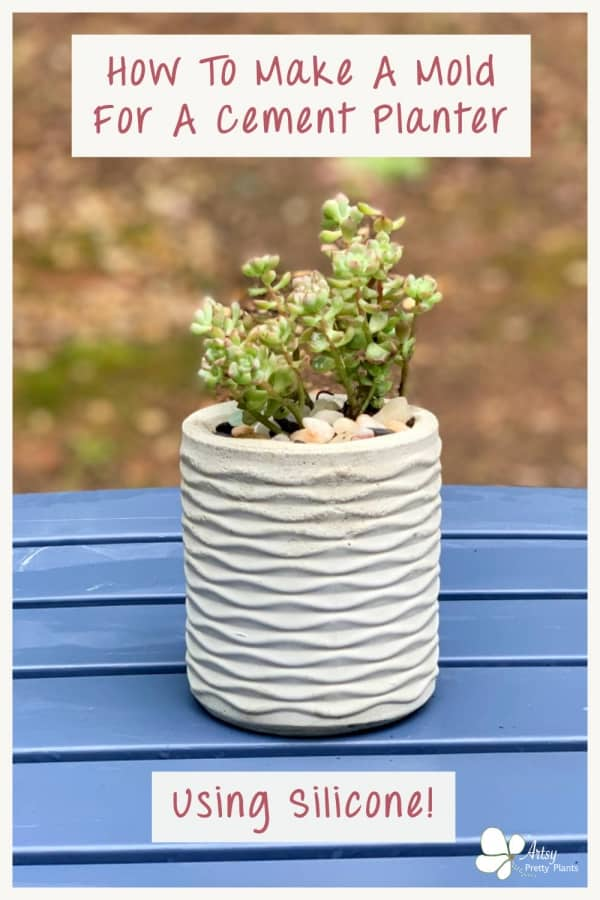 A tutorial for making a mold from silicone- of an existing container to make a DIY cement planter!