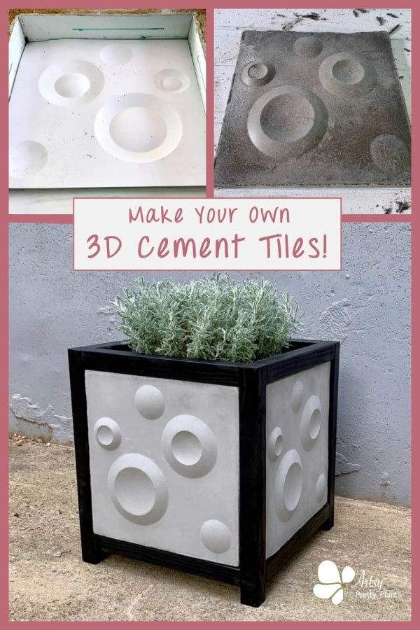 DIY Cement Tile Planter Box