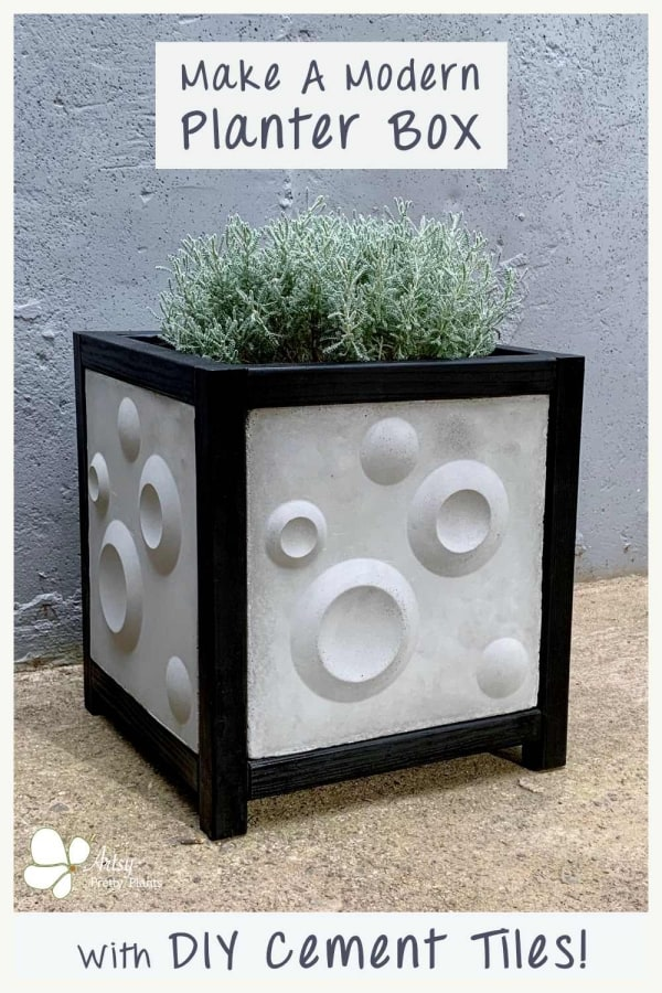 DIY Cement Tile Planter Box Tutorial