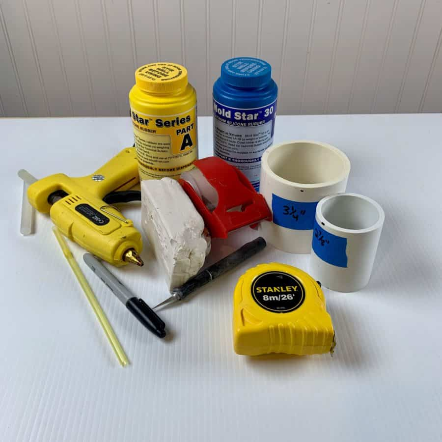 materials for diy silicone mold from pvc