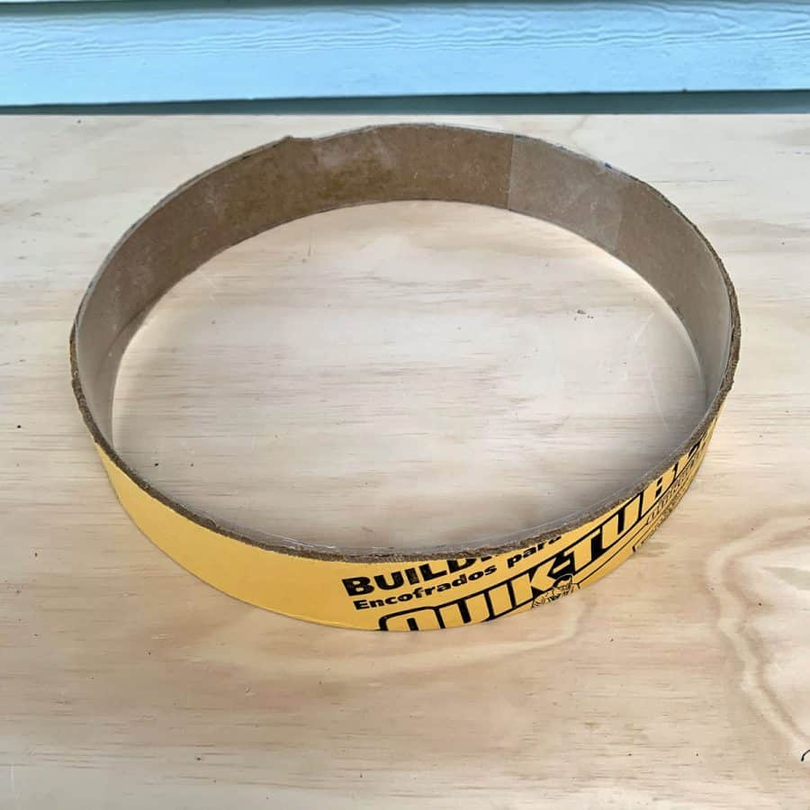 cardboard ring for side table with acetate lining