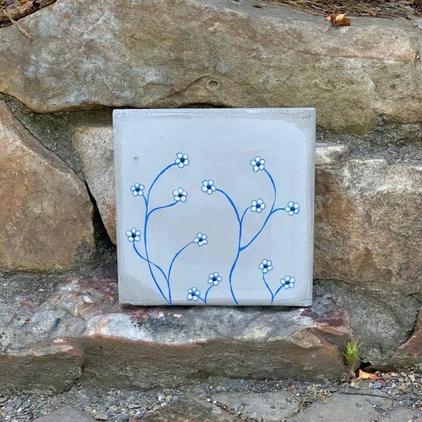 Make An Outdoor Concrete Wall Tile With Flowers