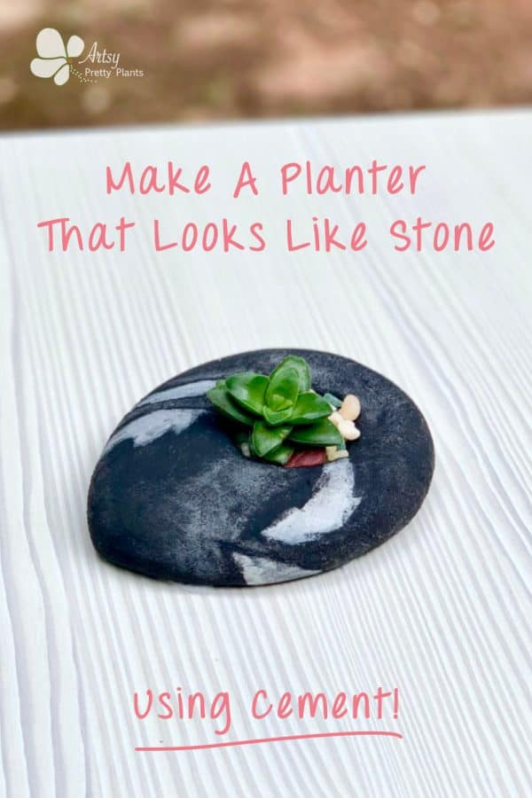 Stone Shaped DIY Cement Planter Tutorial