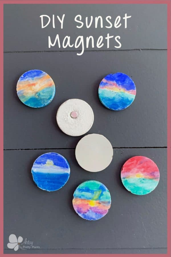 DIY Cement Magnets With Sunsets