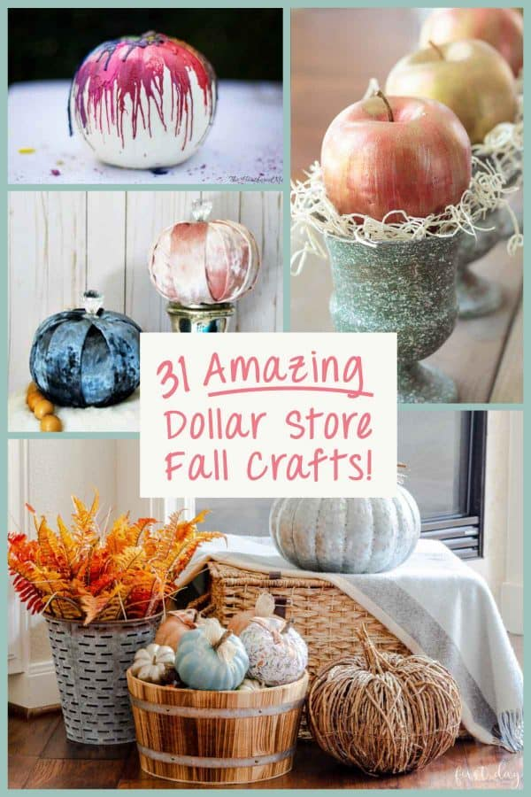 31 Amazing Dollar Store Crafts For Fall Decor Ideas