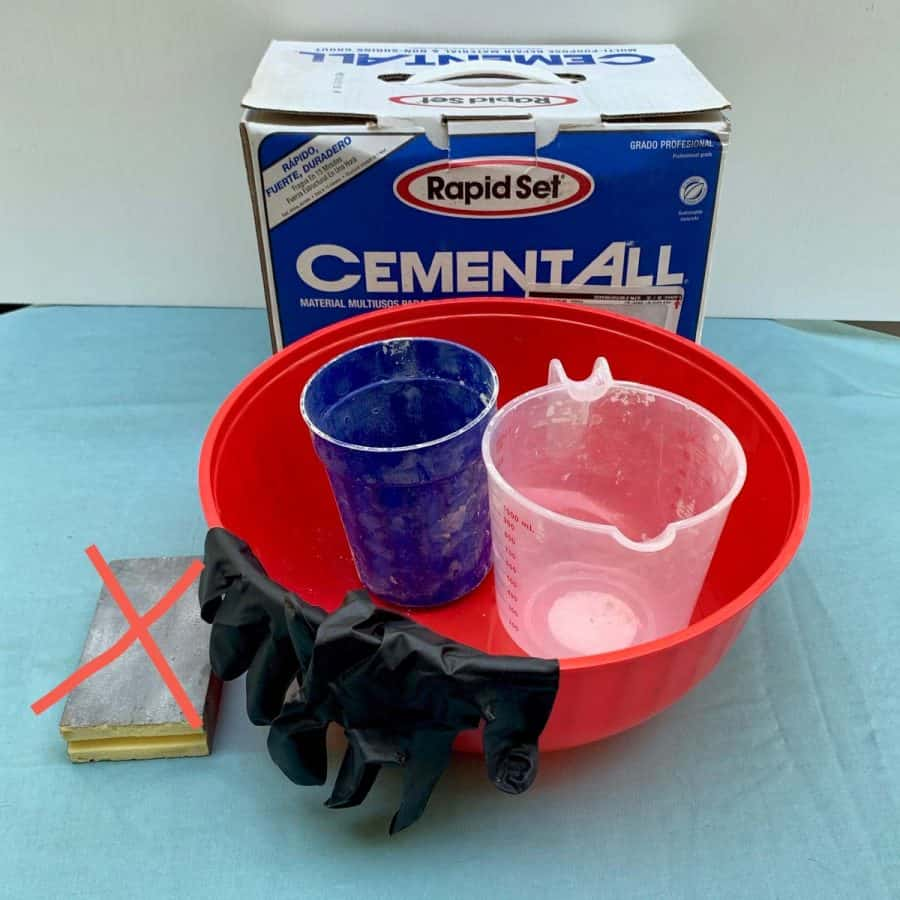 materials for turning plastic pot into cement planter