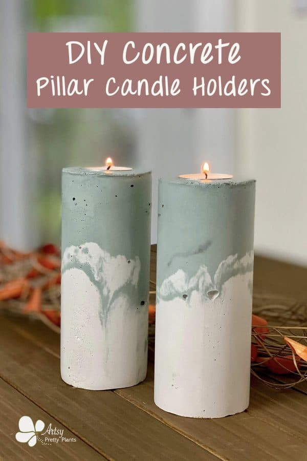 DIY-concrete-pillar-candle-holder
