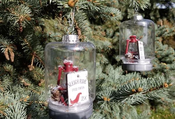 diy ornaments made from dollar tree mason jars