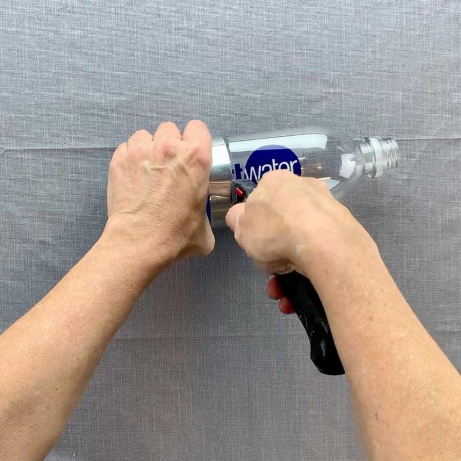 cut top of bottle