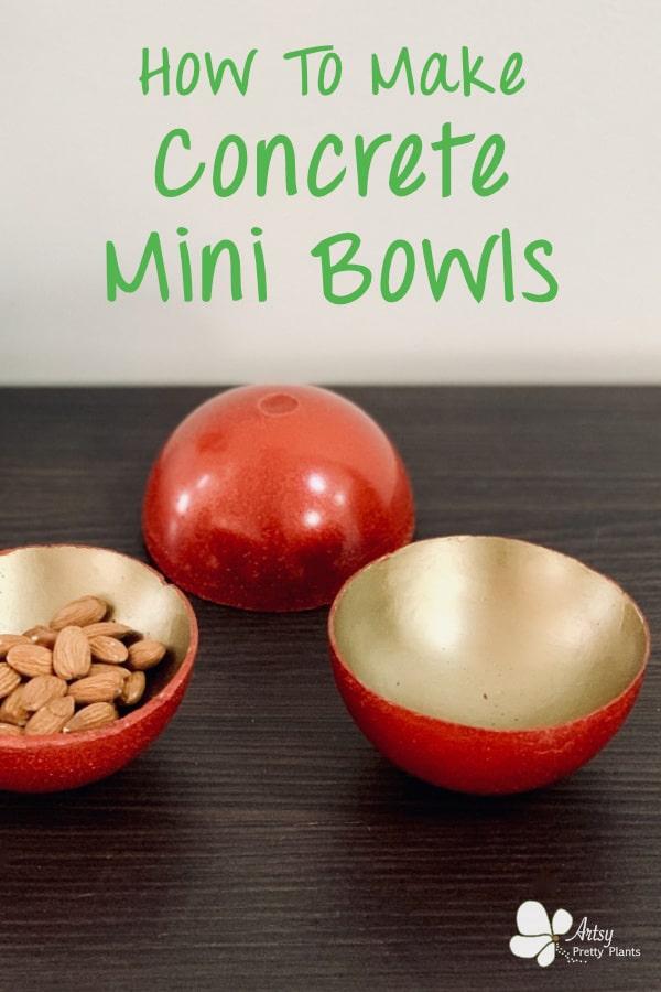 DiY mini concrete bowls