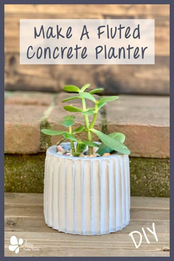 DIY Fluted Cement Planter
